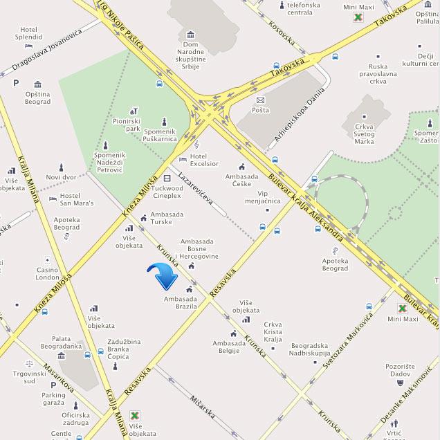 Krunska Ulica Mapa Beograda Superjoden